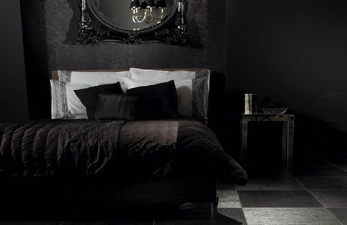 black-colour-bedroom