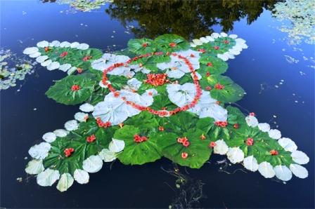 rangoli-with-leaves