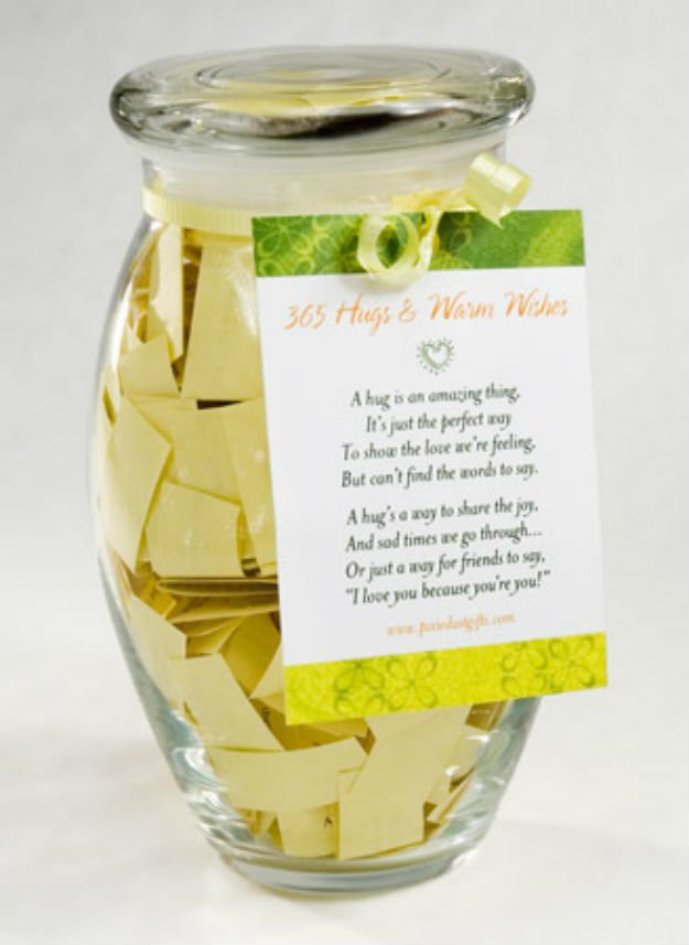 365 Hugs And Warm Wishes In A Jar