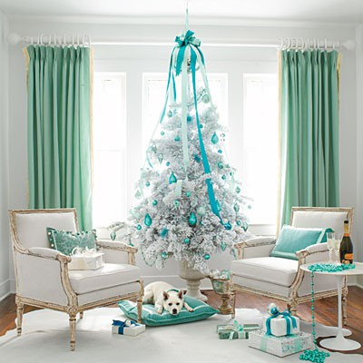 Blue And White Christmas Décor