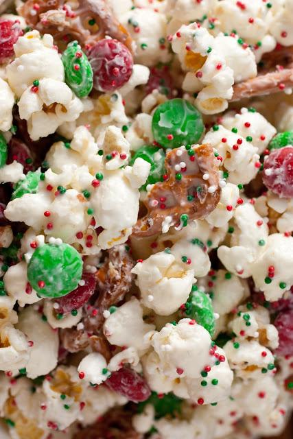 Christmas Funfetti Popcorn