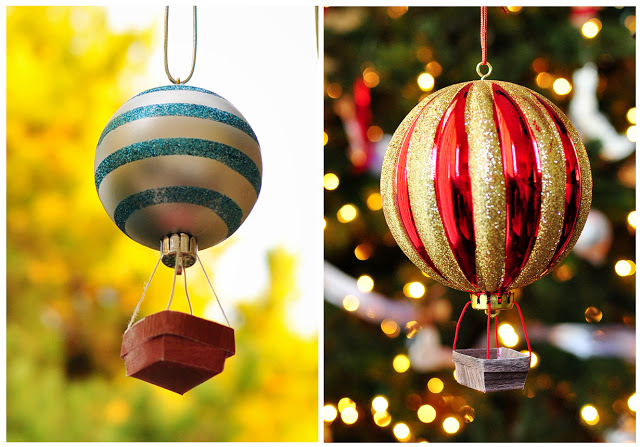 Christmas Hot Air Balloon Ornaments