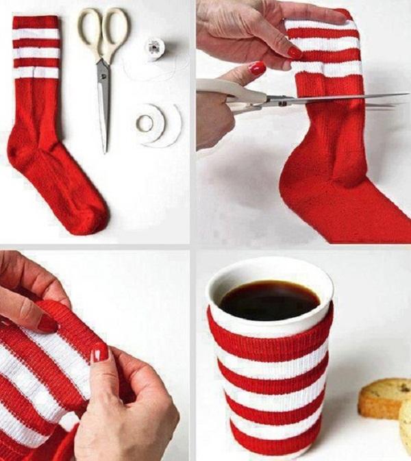 Christmas Mug Sweater Made Out Of A Socks