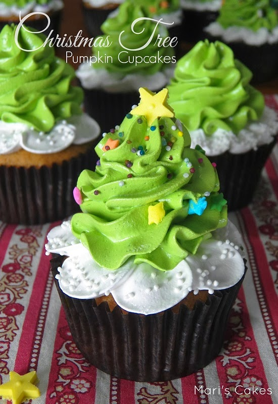 Christmas Tree Pumpkin Cupcakes