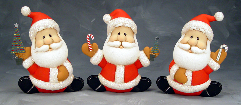 Clay Santa Christmas Ornaments