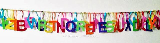 Colorful Alphabet Ornaments
