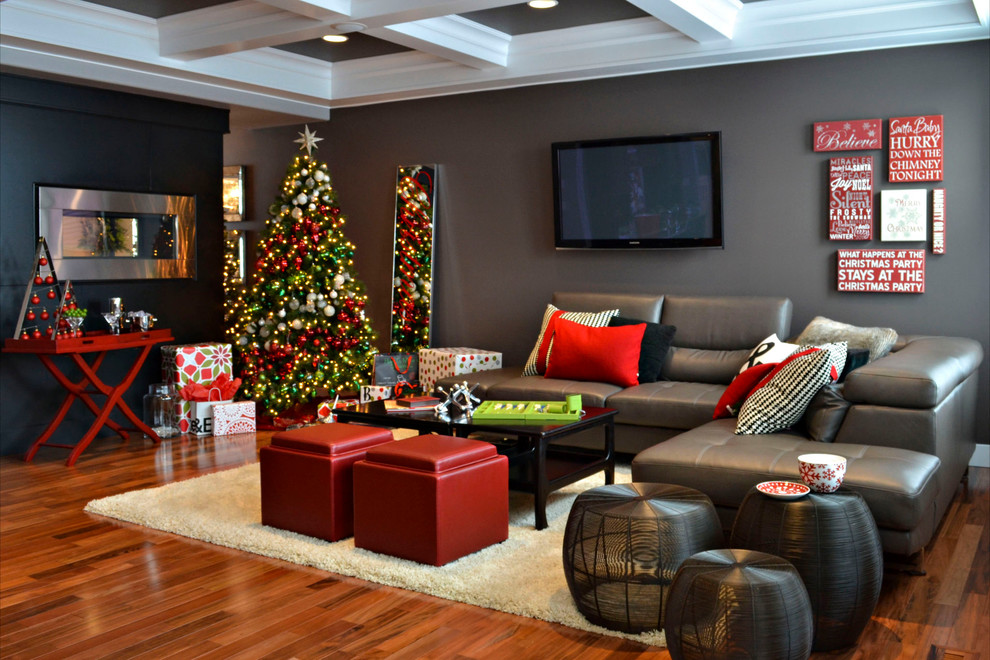 Contemporary Simple Christmas Decoration For Living Room