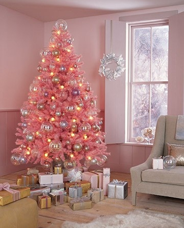 Cute Pink Christmas Tree Decoration For Your Living