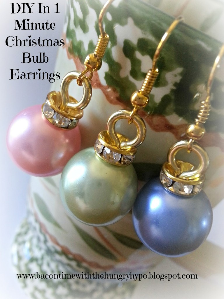 DIY 1-minute Christmas Bulb Earrings
