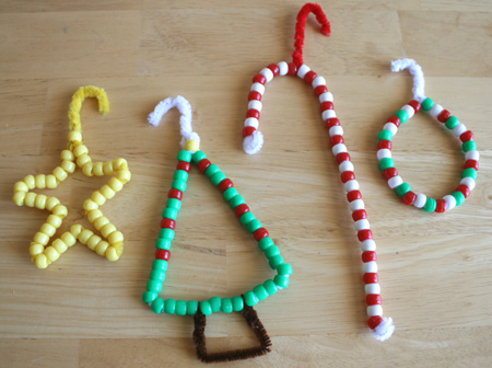 DIY Beaded Christmas Decorations