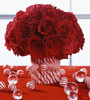DIY Candy Cane Centerpieces