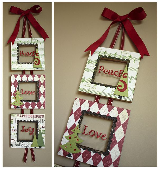 Christmas Photo Frame Craft] Merry Christmas Picture Frame Magnet ...