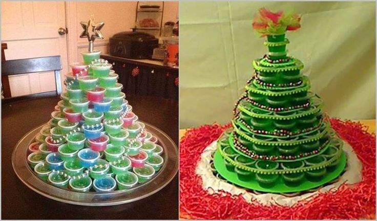 DIY Jello Shots Christmas Tree