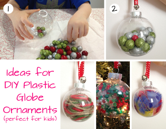 DIY Plastic Globe Ornaments