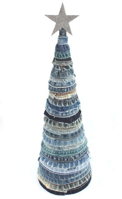 Denim Scrap Christmas Tree