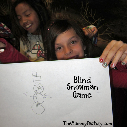 Draw The Snowman Blindfolded