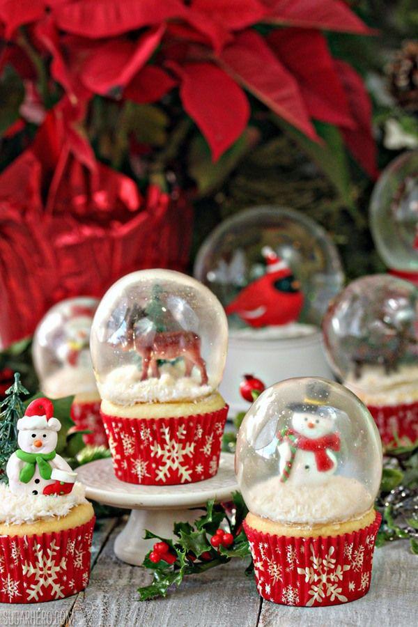 Gelatin Bubble Christmas Cupcakes