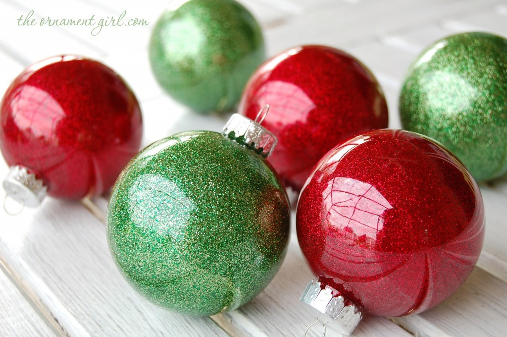 Glittering Christmas Bulbs