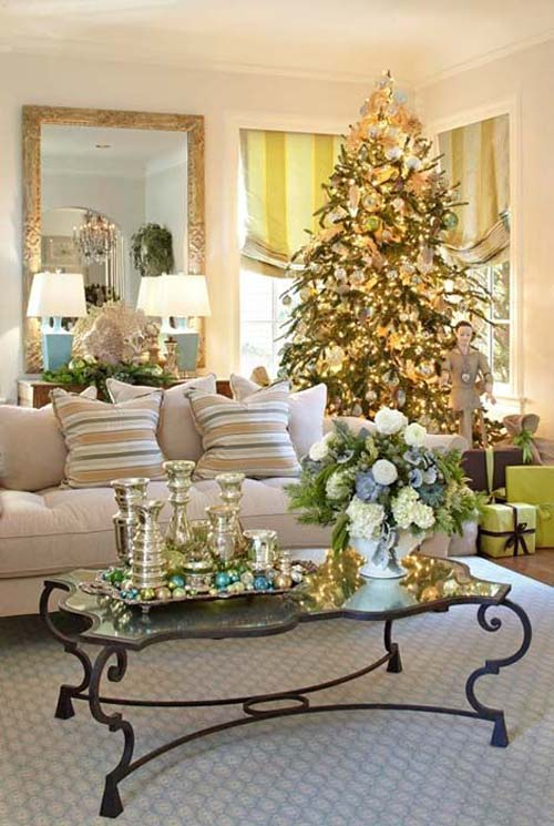 Glowing Christmas And Living Room