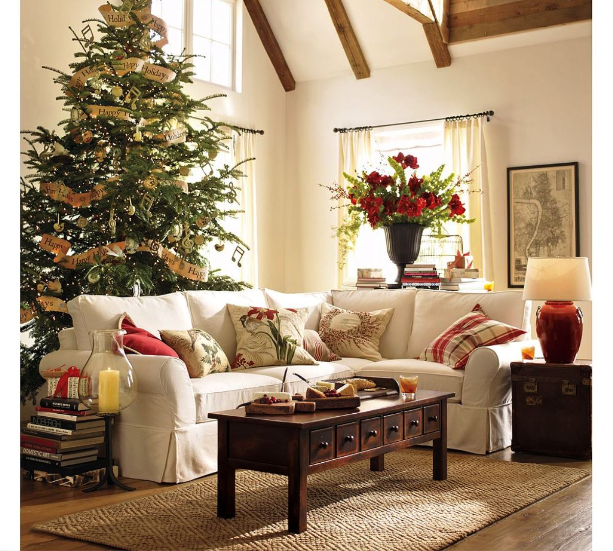 50 stunning christmas decorations for your living room - How to decorate living room for christmas ...