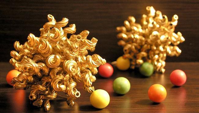 Handmade Pasta Christmas Ornaments