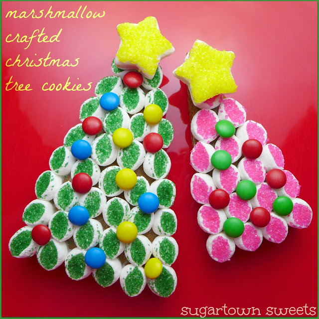 Marshmallow Crafted Christmas Tree Cookies