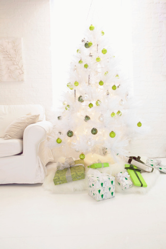 Artificial Christmas Tree in a Living Room