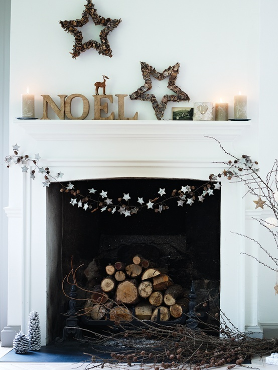 Minimalist Christmas Living Room Décor
