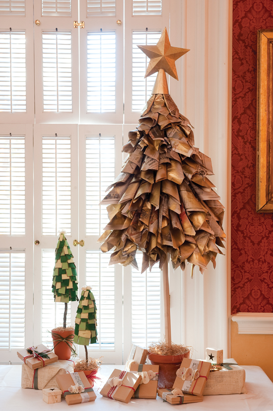 Newspaper Christmas Tree