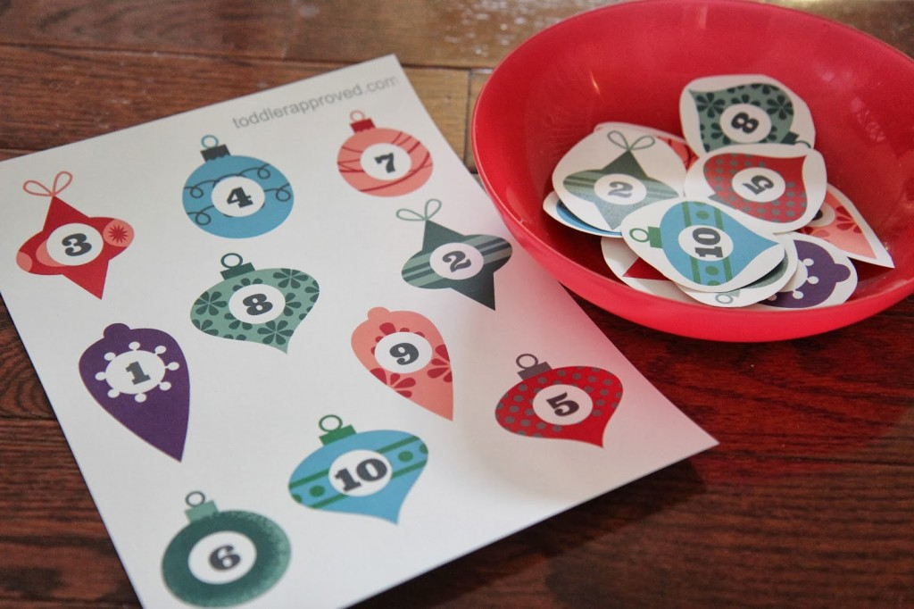 Ornament Number Matching Game