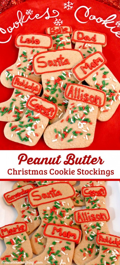Peanut Butter Christmas Cookies Stockings