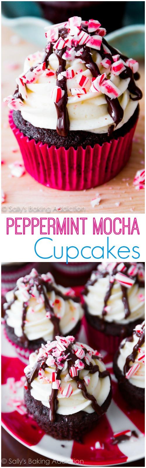 Peppermint Mocha Christmas Cupcakes