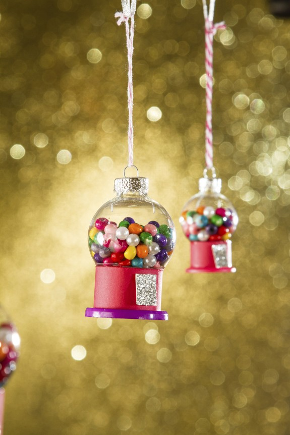 Superb Christmas Ornament Craft Ideas For Kids Part - 7: Petite Gumball Machines
