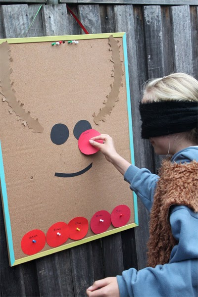 Pin the Nose on the Rudolph