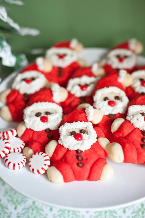 Rolly Poly Santa Cookies