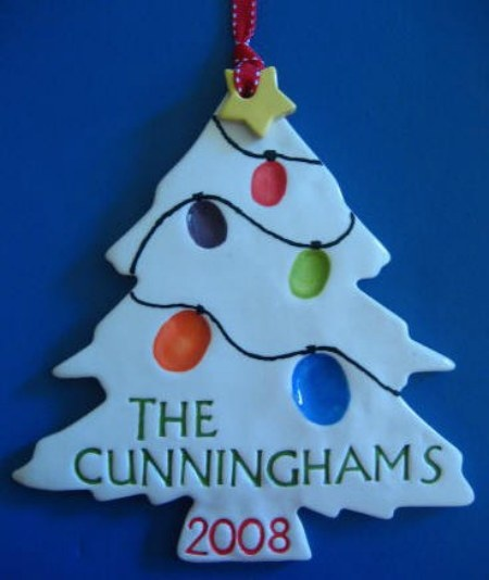 Salt Dough Handprint Christmas Tree