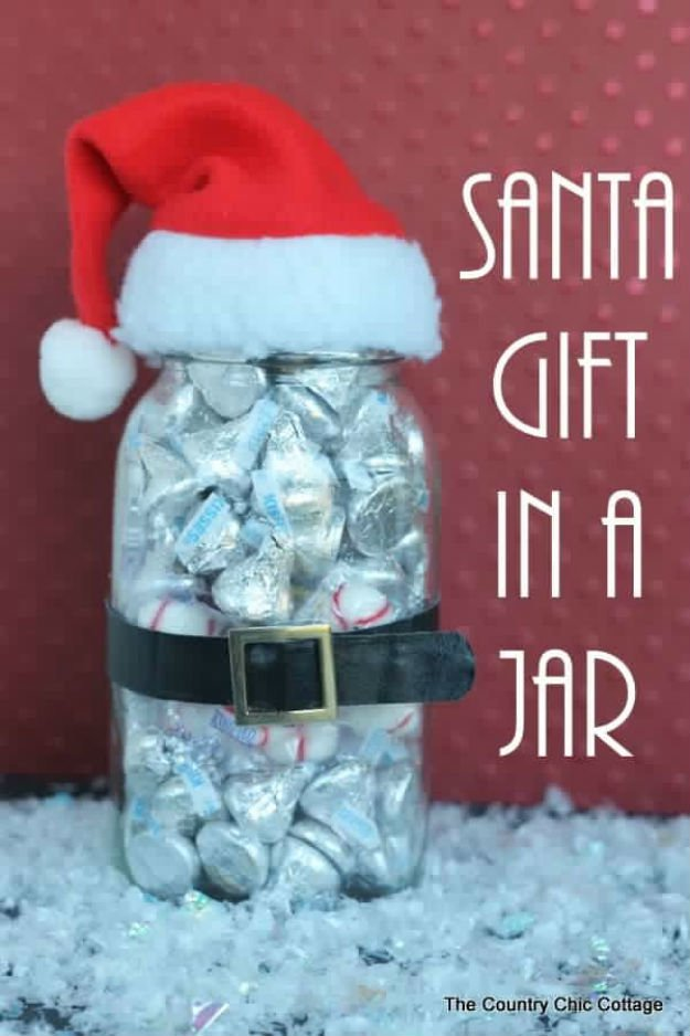 santa in a jar