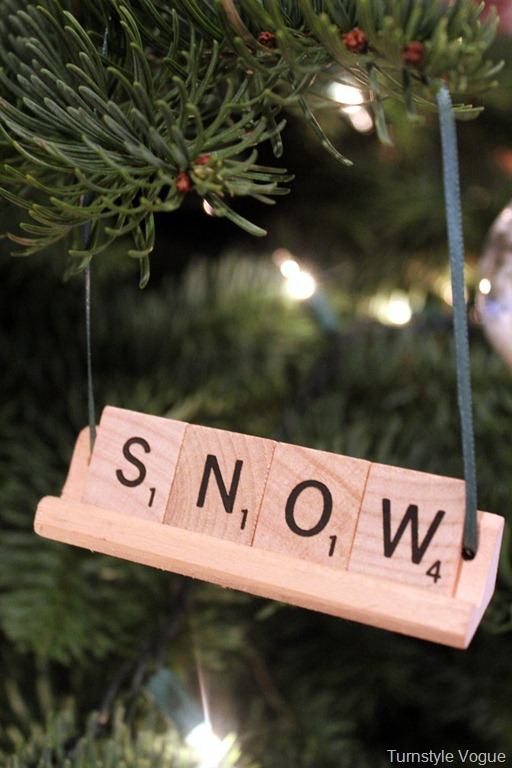 Scrabble Letters Ornaments