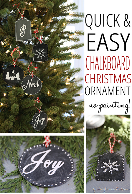 Simple Chalkboard Ornaments