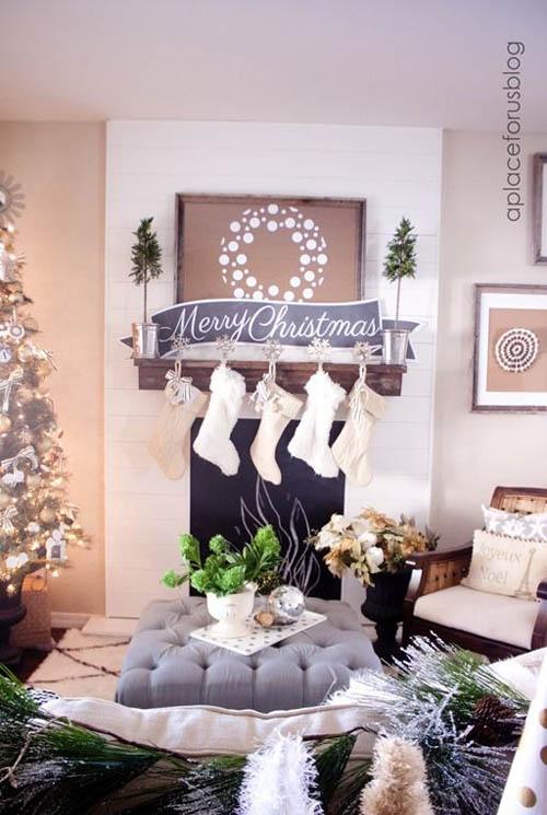Socksy Christmas Living Room