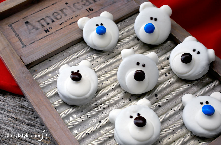 Super Cute Polar Bear Cookies