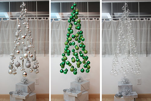 Suspended Ornaments Christmas Tree