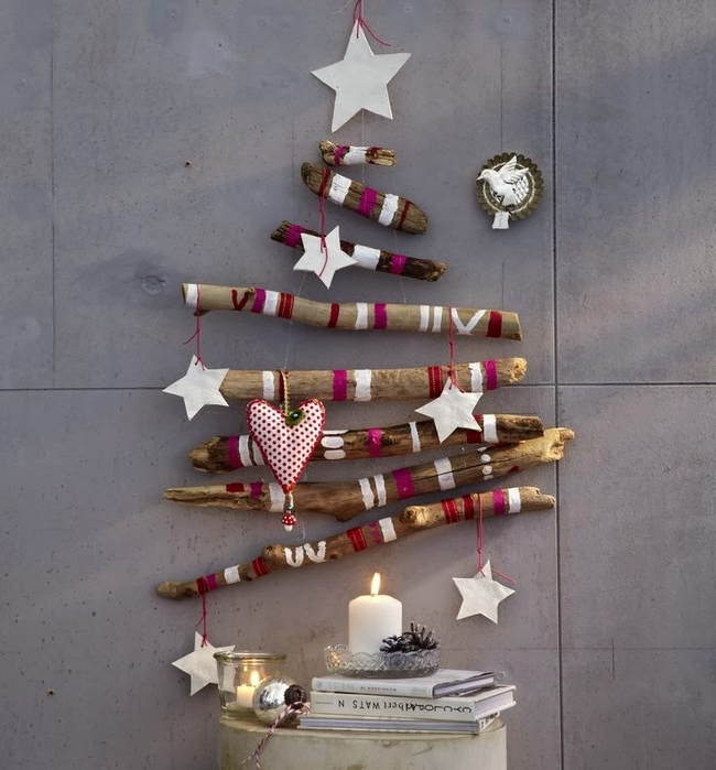 Wooden Sticks Christmas Tree