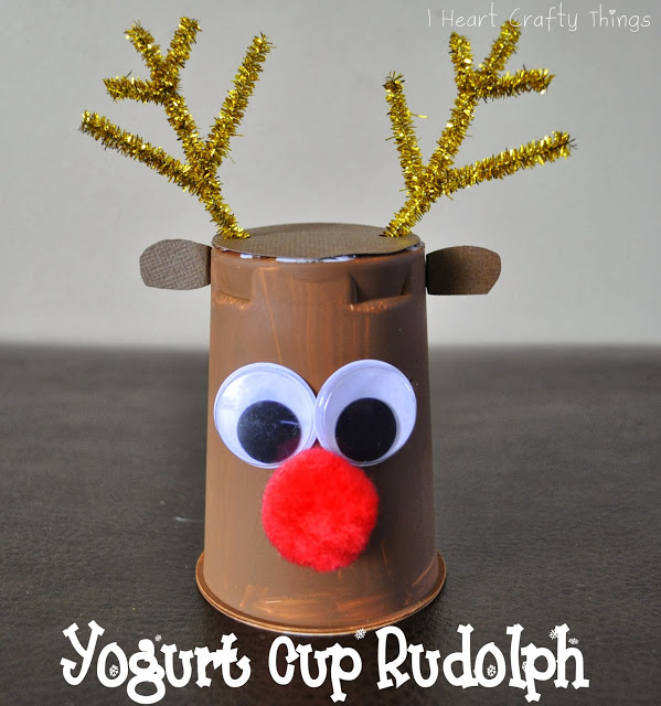 Yogurt Cup Rudolph The Reindeer